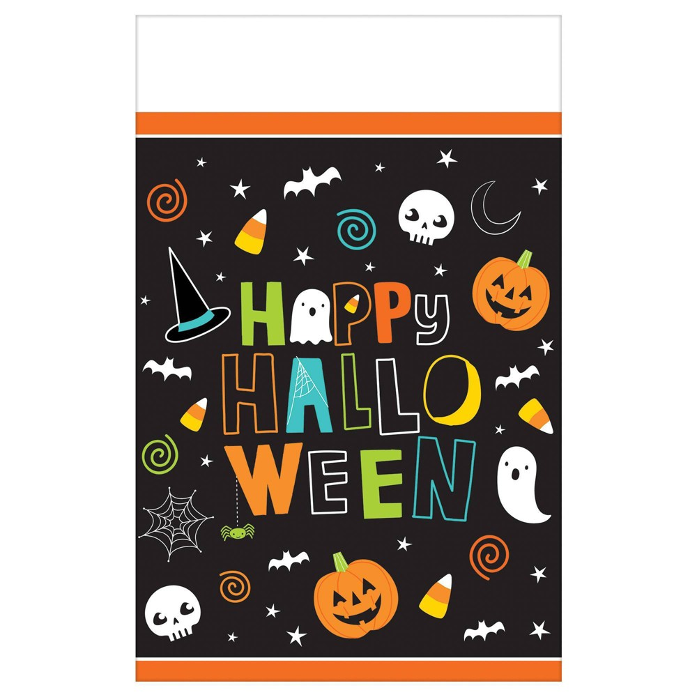 Image of 3ct Halloween Friends Plastic Disposable Table Covers