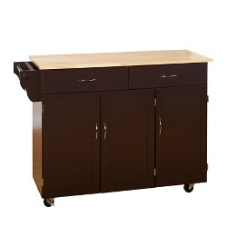 Extra Large Kitchen Cart with Wood Top - Buylateral