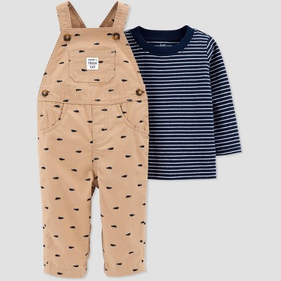 Baby Boys' Rhino Top & Bottom Set - Just One You® made by carter's Khaki Newborn