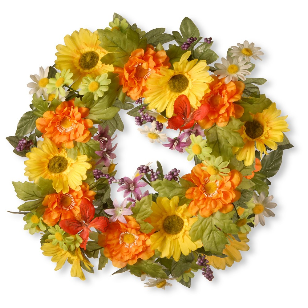 Decorated Wreaths with Daisies (18), Yellow