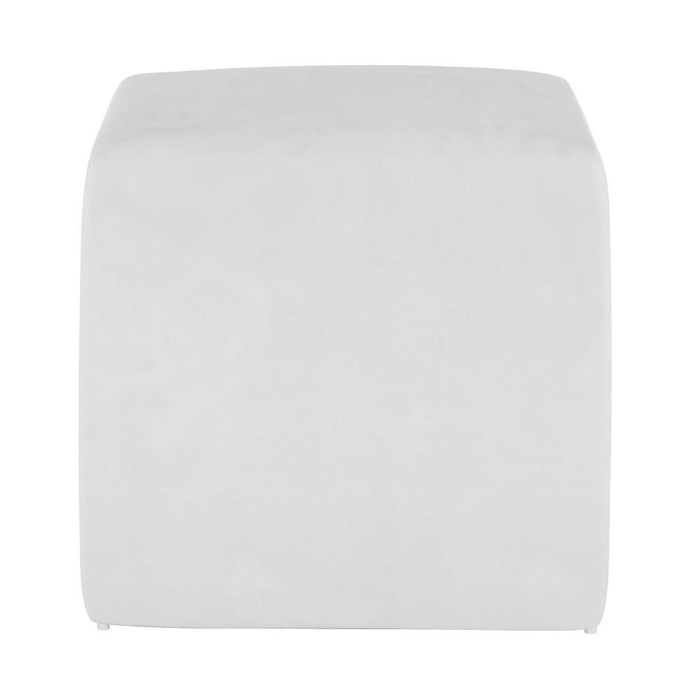 Image of Kids Cube Ottoman Premier White - Pillowfort