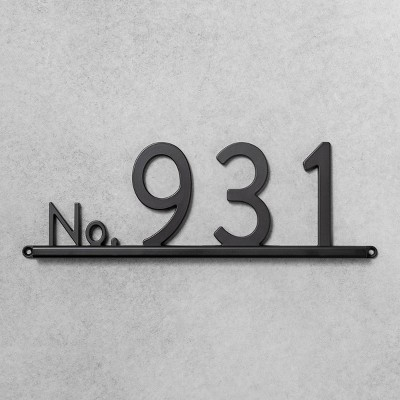 House Numbers Channel Bracket Black 4 Spaces - Hearth & Hand™ with Magnolia
