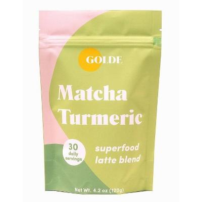 Golde Matcha Turmeric Superfood Latte Blend - 4.2oz
