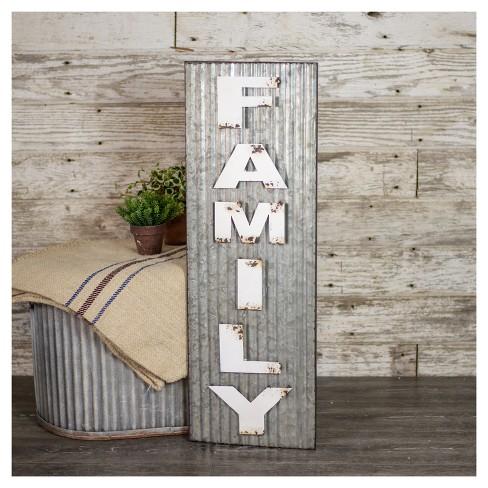 Family Wall Dcor White Silver 11x33 Vip Home Garden Target