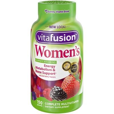 Vitafusion Women's Multivitamin Dietary Supplement Gummies, Berry, 150ct