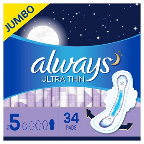 Always Ultra Thin Extra Heavy Overnight Pads - image 1 of 4