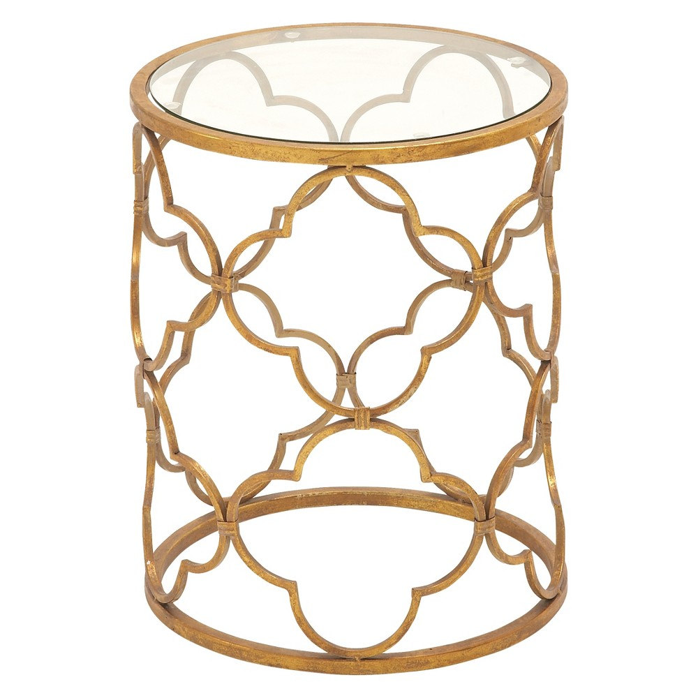 Modern Metal Accent Table Gold - Olivia & May