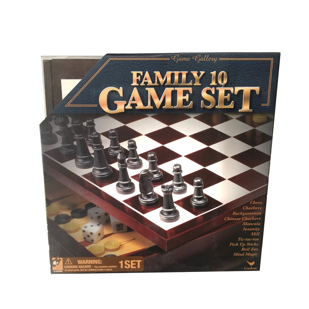 Collector's Wood Family 10 Classic Board Game Set