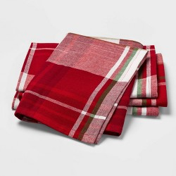 4pk Holiday Plaid Square Napkins - Threshold™