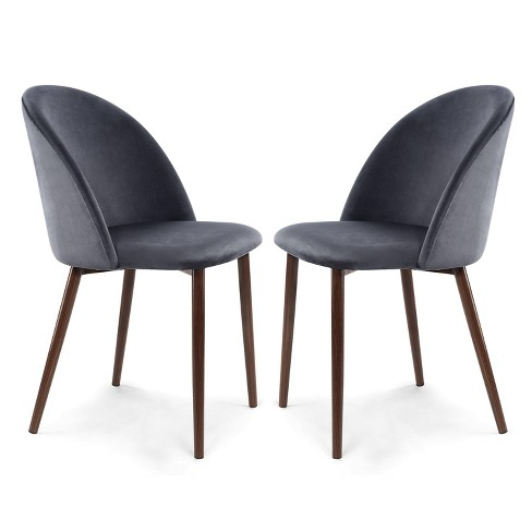 Set of 2 Raleigh Velvet Dining Chair - Poly & Bark - image 1 of 4