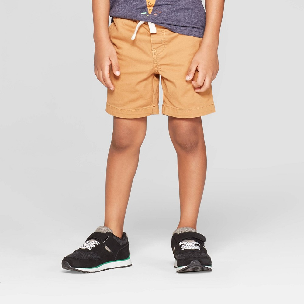 Toddler Boys' Stretch Twill Pull-On Shorts - Cat & Jack Brown 5T