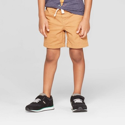 view Toddler Boys' Stretch Twill Pull-On Shorts - Cat & Jack Brown on target.com. Opens in a new tab.