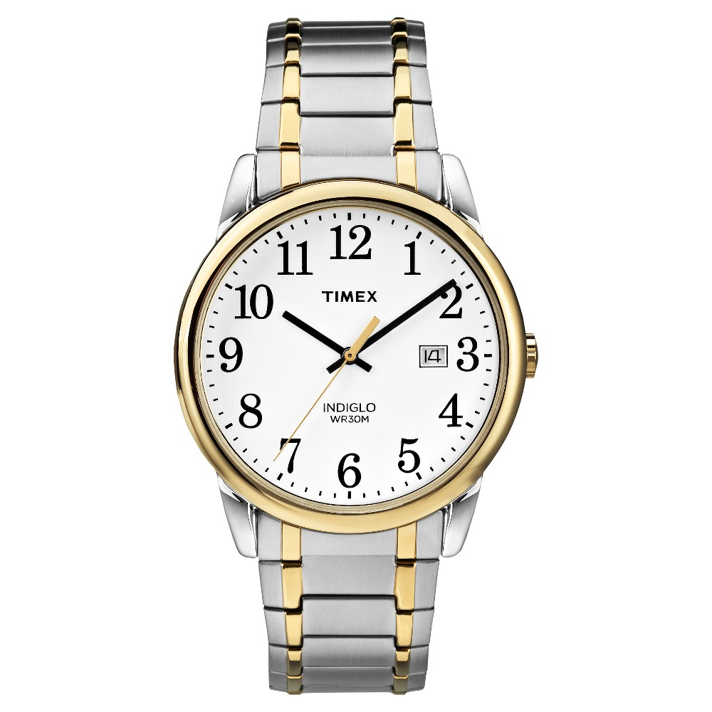 Men Timex Eay Reader Expanion Band Watch Two Tone TW2P81400JT