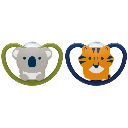 NUK Space Orthodontic Pacifier 0-6 Months - Koala/Lion - 2pk - image 1 of 4