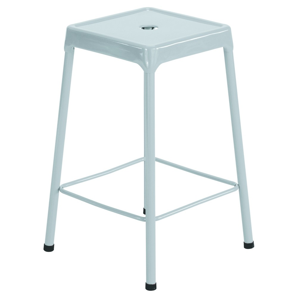 Image of Safco Counter-Height Steel Stool, Silver