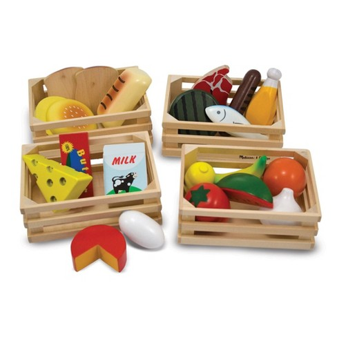 Excellent Melissa Doug Food Groups 21 Hand Painted Woodenpc And 4 Crates Home Remodeling Inspirations Propsscottssportslandcom
