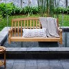 Sherwood Teak Porch Swing with Stainless Steel Chain - Cambridge Casual - image 3 of 4