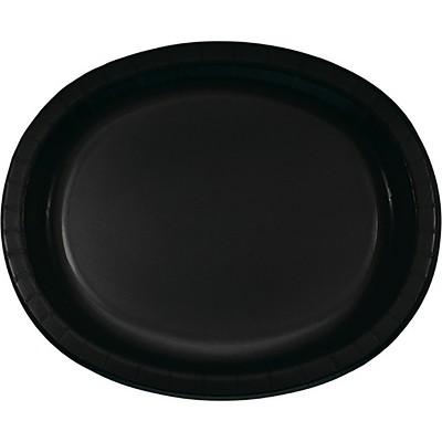8ct Black Oval Plates