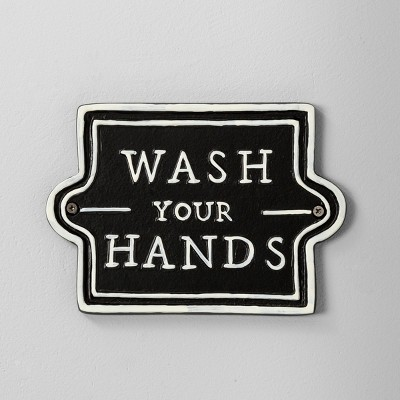 Wash Your Hands Wall Sign Black - Hearth & Hand™ with Magnolia