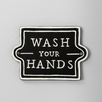 Wall Sign Wash Your Hands Black - Hearth & Hand™ with Magnolia