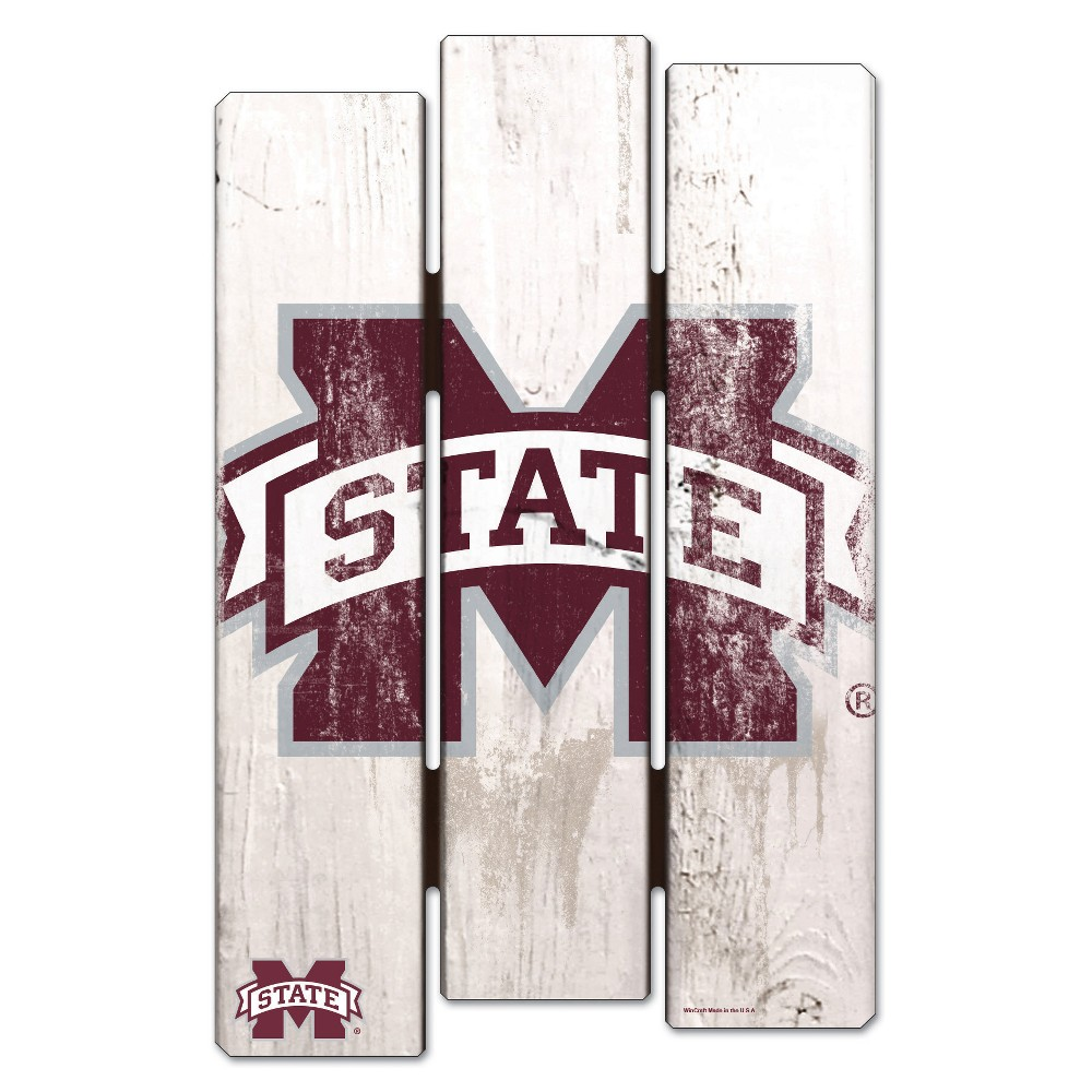 NCAA Mississippi State Bulldogs Fence Wall Sign
