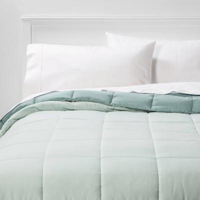 Full/Queen Reversible Microfiber Solid Comforter Mint - Room Essentials™