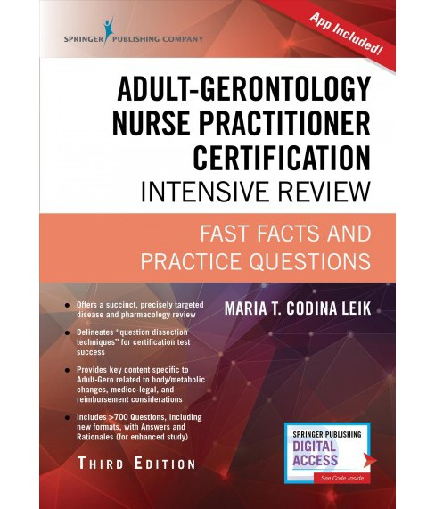 Adult-gerontology Nurse Practitioner Certification Intensive Review : Fast Facts and Practice Questions - image 1 of 1