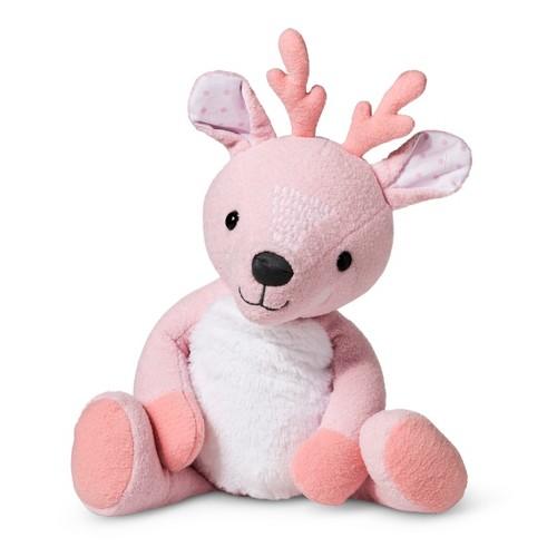 Plush Deer Stuffed Animal - Cloud Island Pink