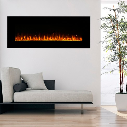 Electric Fireplace Wall Mounted Led Fire And Ice Flame With Remote 54 Northwest Target