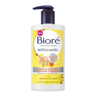Facial Cleanser: Bioré Witch Hazel Pore Clarifying Cooling Cleanser