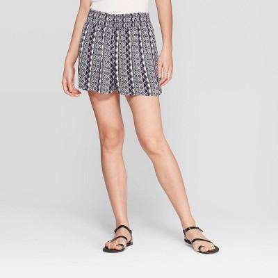 Women's Printed Mid-Rise Shorts - Knox Rose™ Blue M