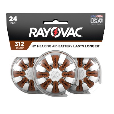 Rayovac Size 312 Hearing Aid Battery - 24pk