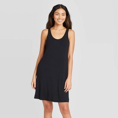 Women's Sleeveless Beautifully Soft Nightgown - Stars Above™ Black L