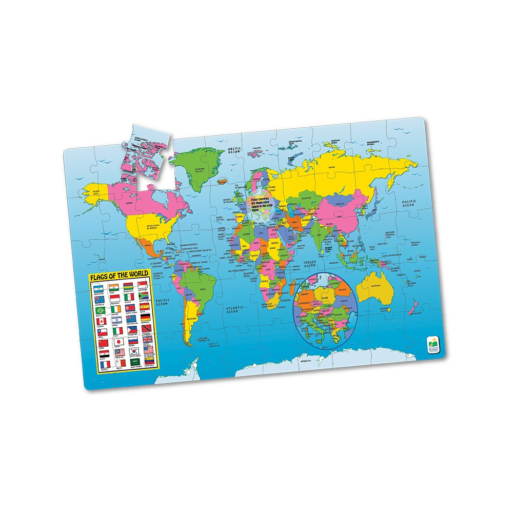 The Learning Journey Jumbo Floor Puzzles, 50pc - Map of the World