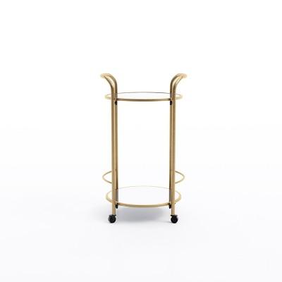 Katrine Brighton Bar Cart Antique Gold - Jamesdar