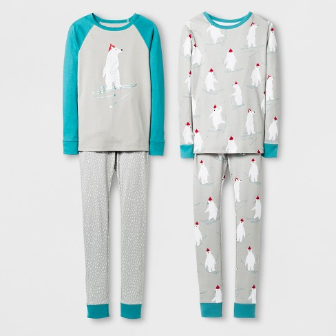 Boys' 4pc Tight Fit Pajama Set With Gift Bag - Cat & Jack™ Gray - image 1 of 2