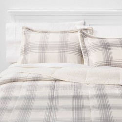 Corbin Plaid to Sherpa Comforter Set