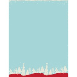 80pk Christmas Forest Letterhead