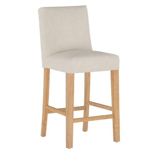 Slipcover Bar Stool Linen Talc - Skyline Furniture - image 1 of 4