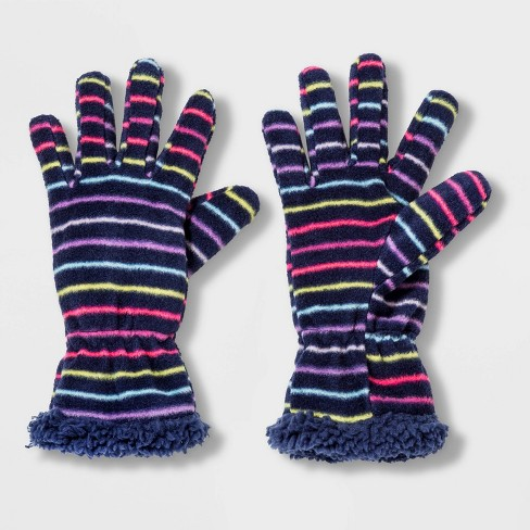 Girls' Fleece Glove - Cat & Jack™ Navy - image 1 of 1