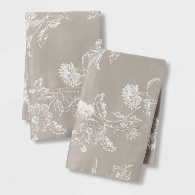 Performance Printed Pillowcases (Standard)Khaki 400 Thread Count - Threshold™