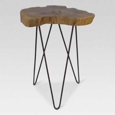 Superieur Live Edge Accent Table Brown   Threshold™ : Target