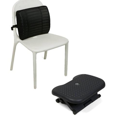 Mind Reader Memory Foam Lumbar Back Cushion & Adjustable Ergonomic Non-Slip Foot Rest - image 1 of 4