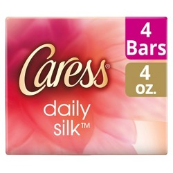 Caress Daily Silk White Peach & Orange Blossom Scent Bar Soap - 4oz/4ct