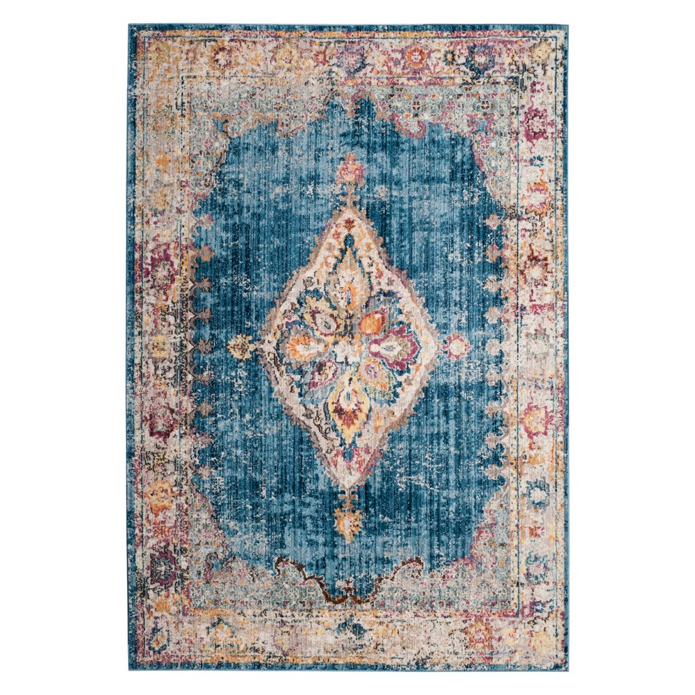 6'X9' Medallion Loomed Area Rug Blue/Ivory - Safavieh