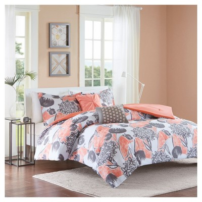 Vera Comforter Set (Full/Queen)5pc - Coral