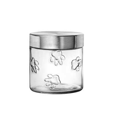 Amici Pet Maxwell Dog Glass Canister, Small, 28oz