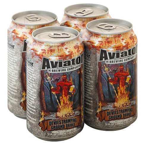 Aviator® Devil's Tramping Ground Tripel Beer - 4pk / 12oz Cans - image 1 of 1