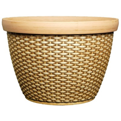 Set of 2 Jake Planter Basket Straw - Classic Home and Garden