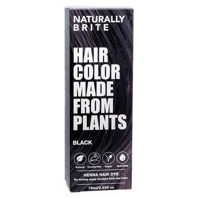 BRITE Naturally Henna Hair Dye Black - 2.53 fl oz